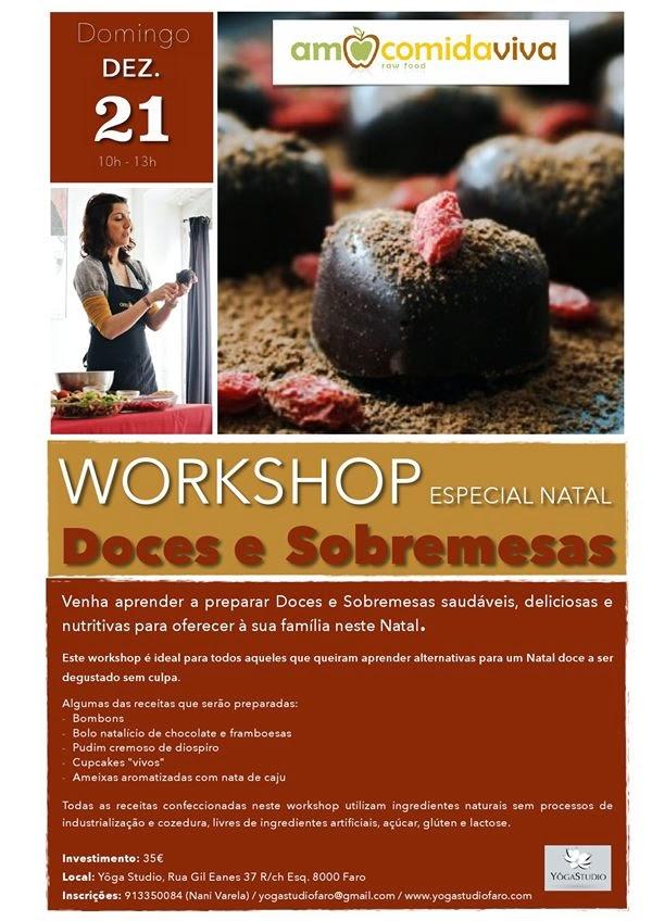 Workshop de Doces e Sobremesas Saudáveis (Especial Natal) – Faro