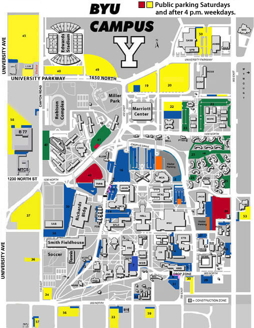 Byu Parking Map Byu Parking Rules Inspiring World Map Design