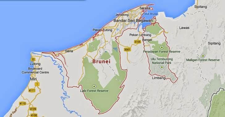 peta negara brunei