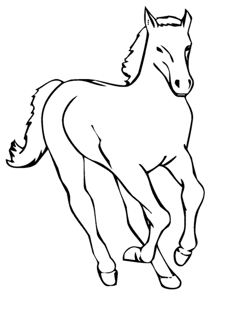 coloring pages horses running-#39
