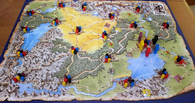 Elfenland - The board and playing pieces
