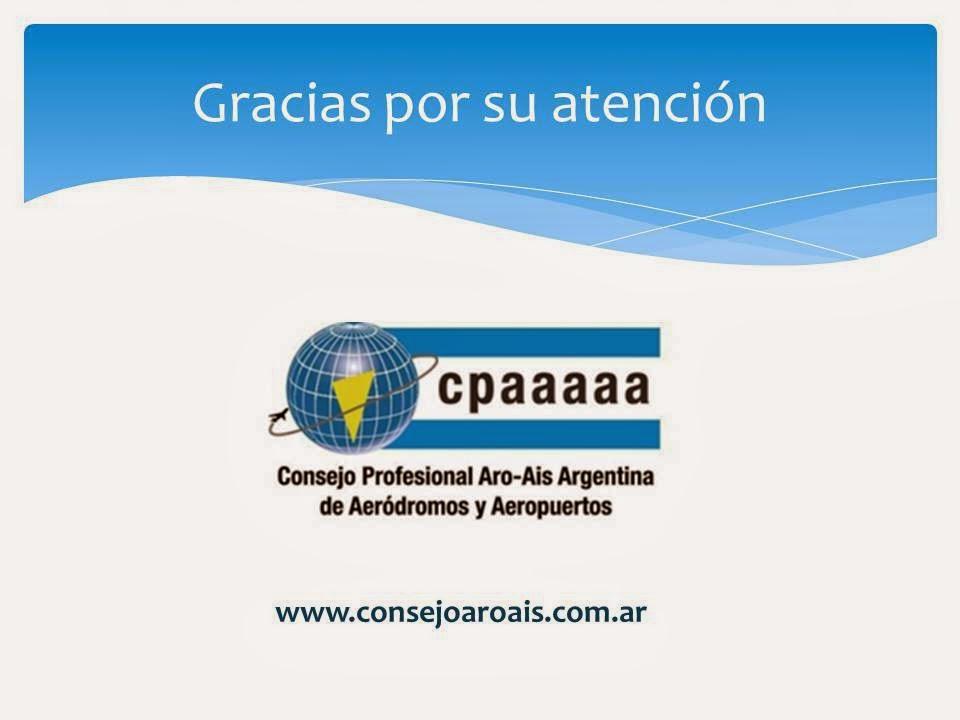 CONSEJO PROFESIONAL ARO AIS ARGENTINA DE AERODROMOS Y AEROPUERTOS