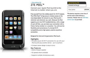 ZTE Peel now available from Sprint