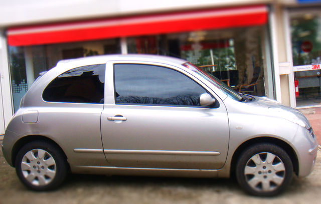 Vitre Teint 233 E Confort Glass Nissan Micra Gris Clair