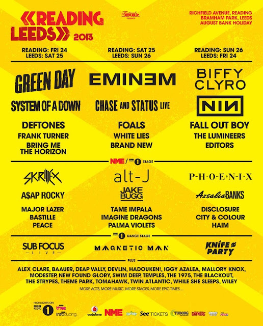 Reading and Leeds Festival 2013