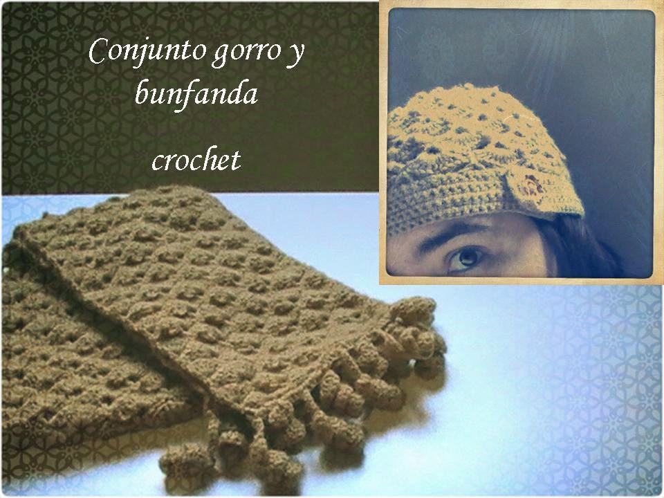 Tejido a crochet: gorro y bufanda a conjunto - Margarita Knitting