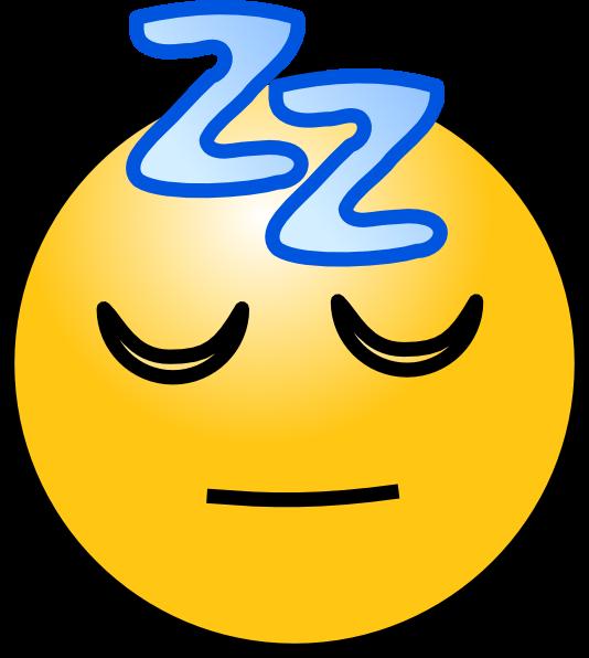 DP BBM Tidur Gambar Animasi Bergerak Smiley Lucu