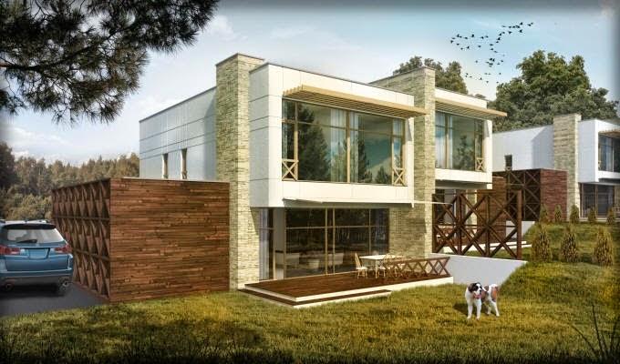 Fachadas de casas modernas fachadas de casas modernas urbanas for Casas modernas redondas
