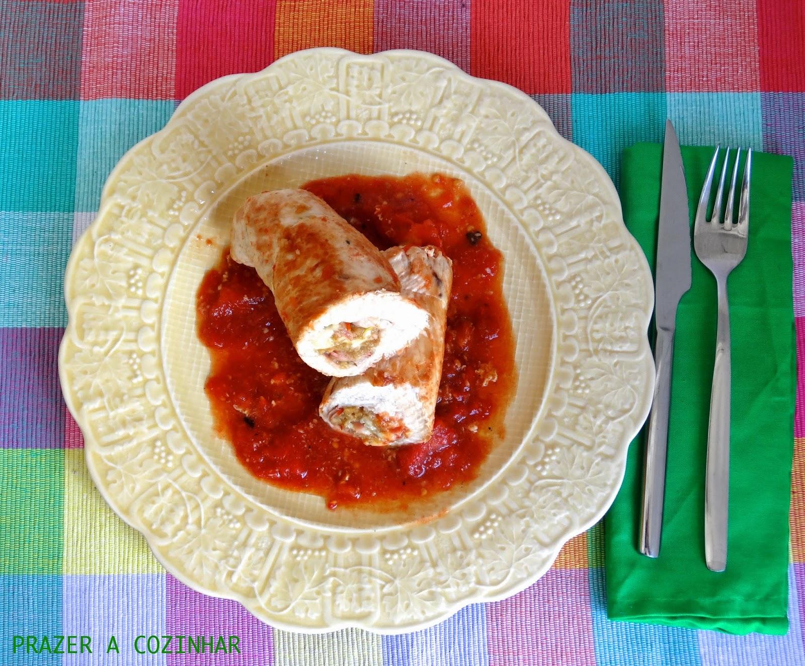 prazer a cozinhar - Bifes recheados