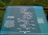 Plafó informatiu sobre la Sèquia de Manresa i els seus trams subterranis