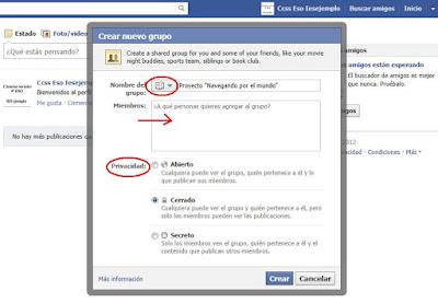 privacidad de los grupos de facebook