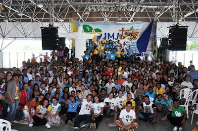 Juventude Missionária de Sergipe participa de Congresso da Juventude em preparação à JMJ Rio 2013.
