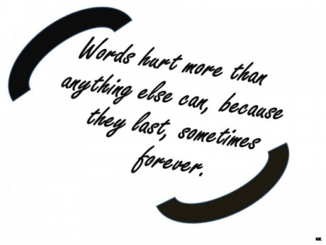Sad Quote about bitterness of words and their impact forever, images ...