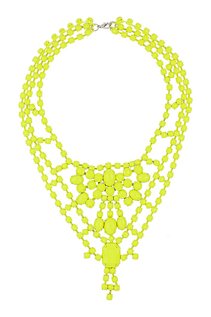 fluro necklace
