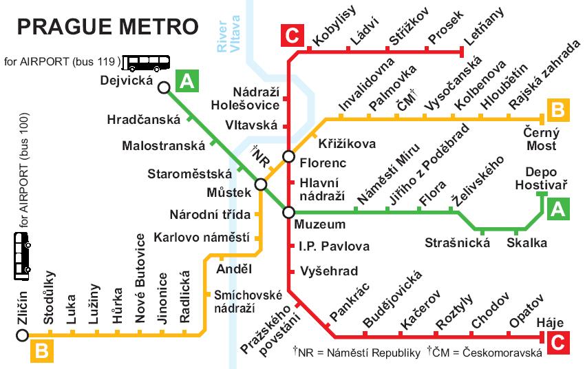 Детальная схема метро и