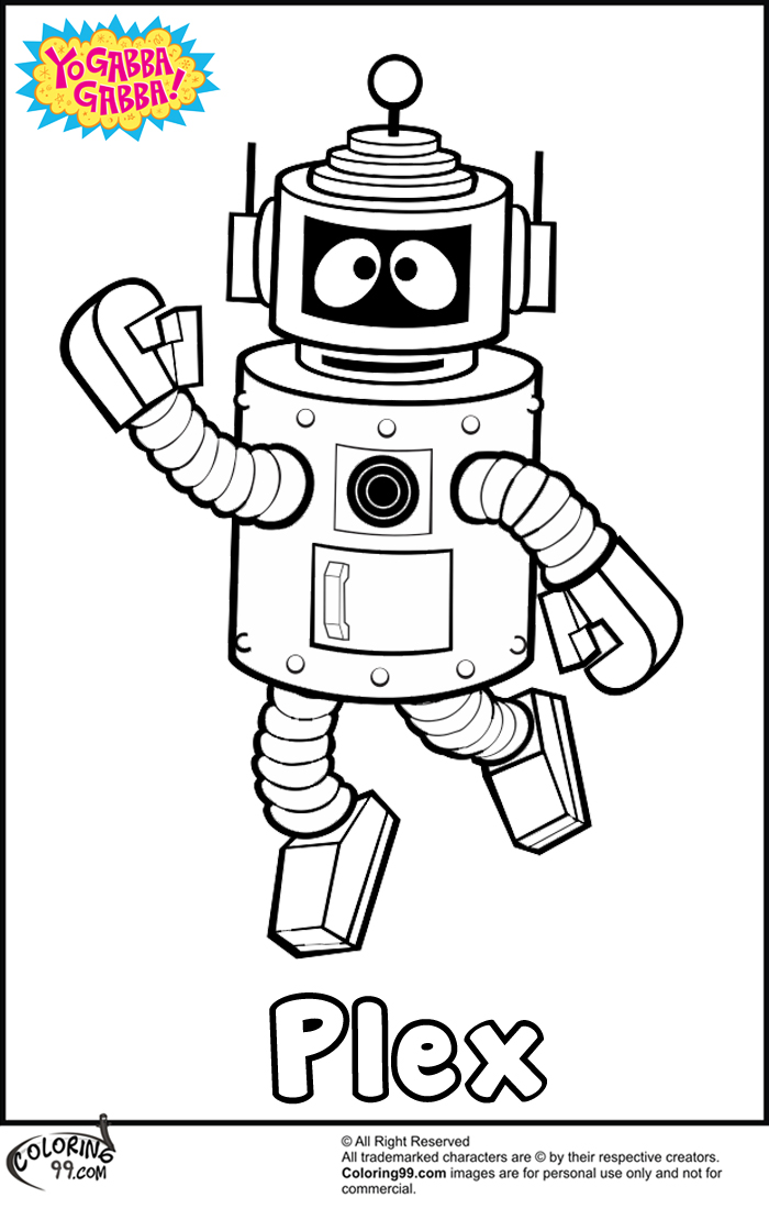Yo Gabba Gabba Plex Coloring Pages