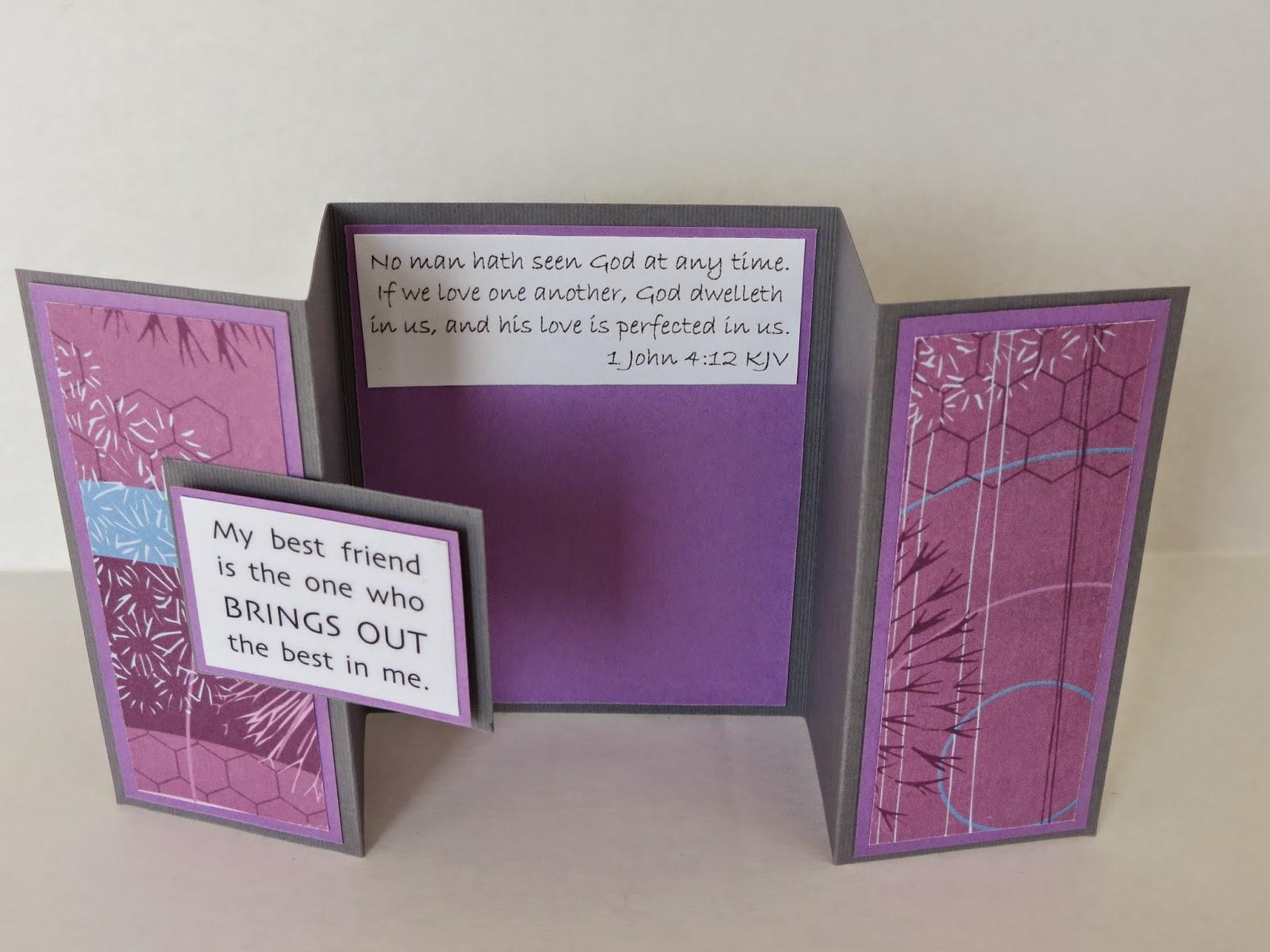 tri fold friendship card