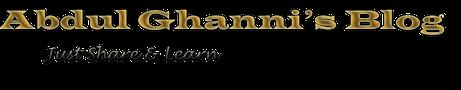 Abdul Ghanni's Blog