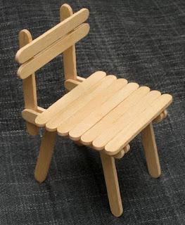 ide kreatif cara membuat kerajinan Miniatur kursi dari stik es krim