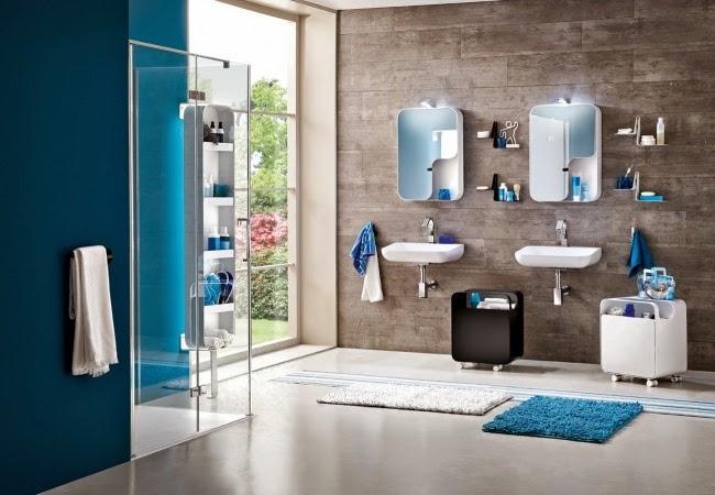 Ideia criativa azul na casa de banho ~ Decoraç u00e3o e Ideias # Decoração De Casas De Banho Em Azul
