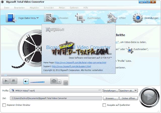 Bigasoft Total Video Converter v3.7.21.4680  Screenshot D-T3X F.A™