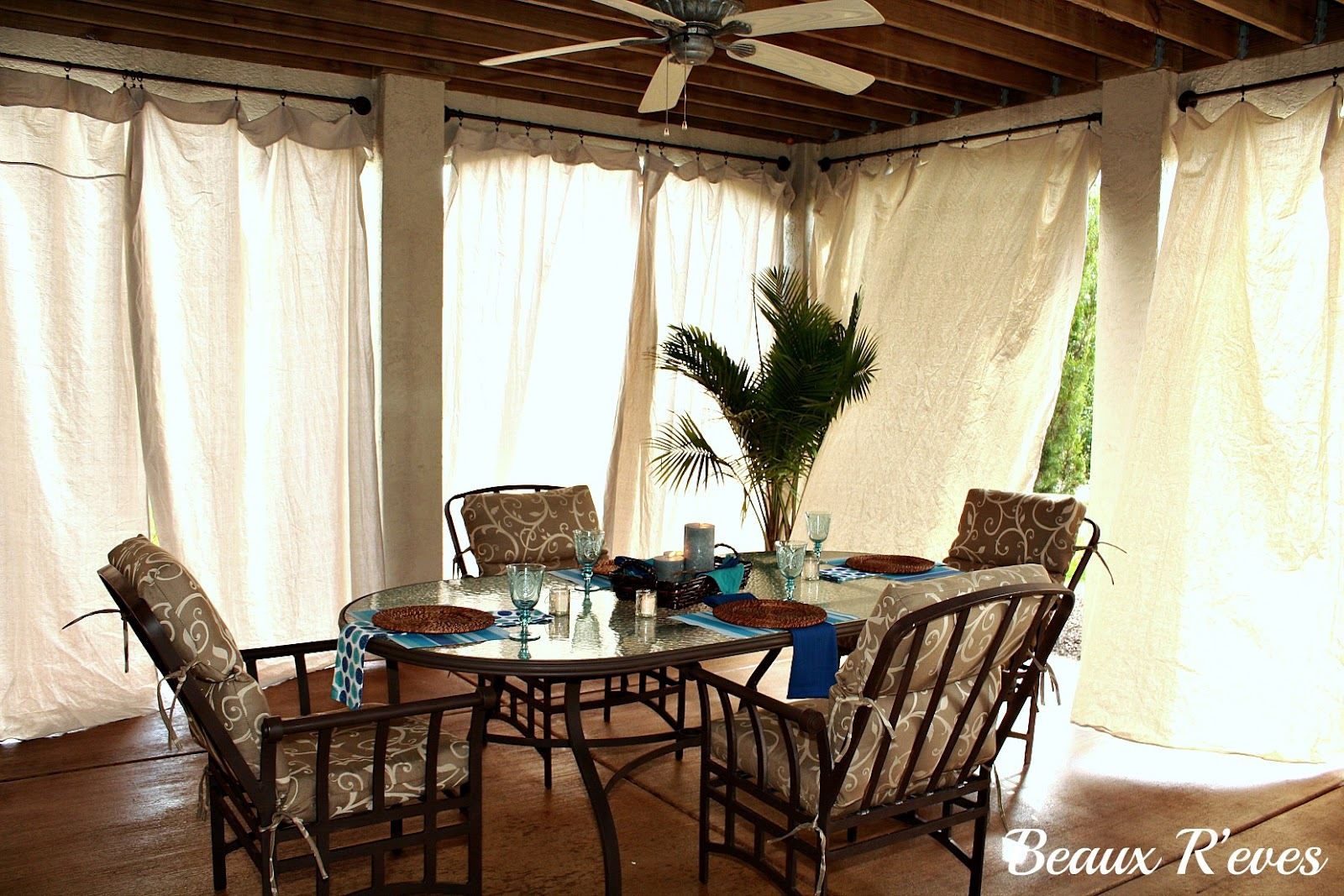 Beaux R 39 Eves No Sew Outdoor Curtains