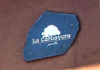 Gijón, restaurante La Carbayera, rótulo