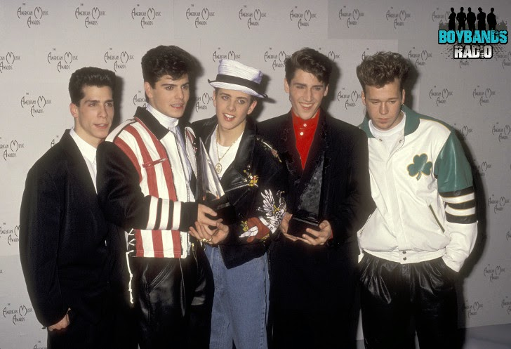Danny, Jordan, Jonathan, Joey and Donnie had very funny looks back in the eary 90s. NKOTB on Boybands Radio.
