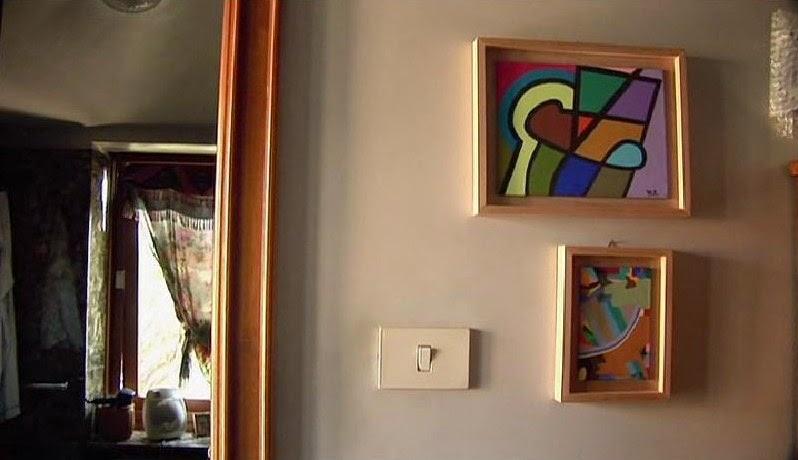 Os quadros  e a casa de Antonioni...