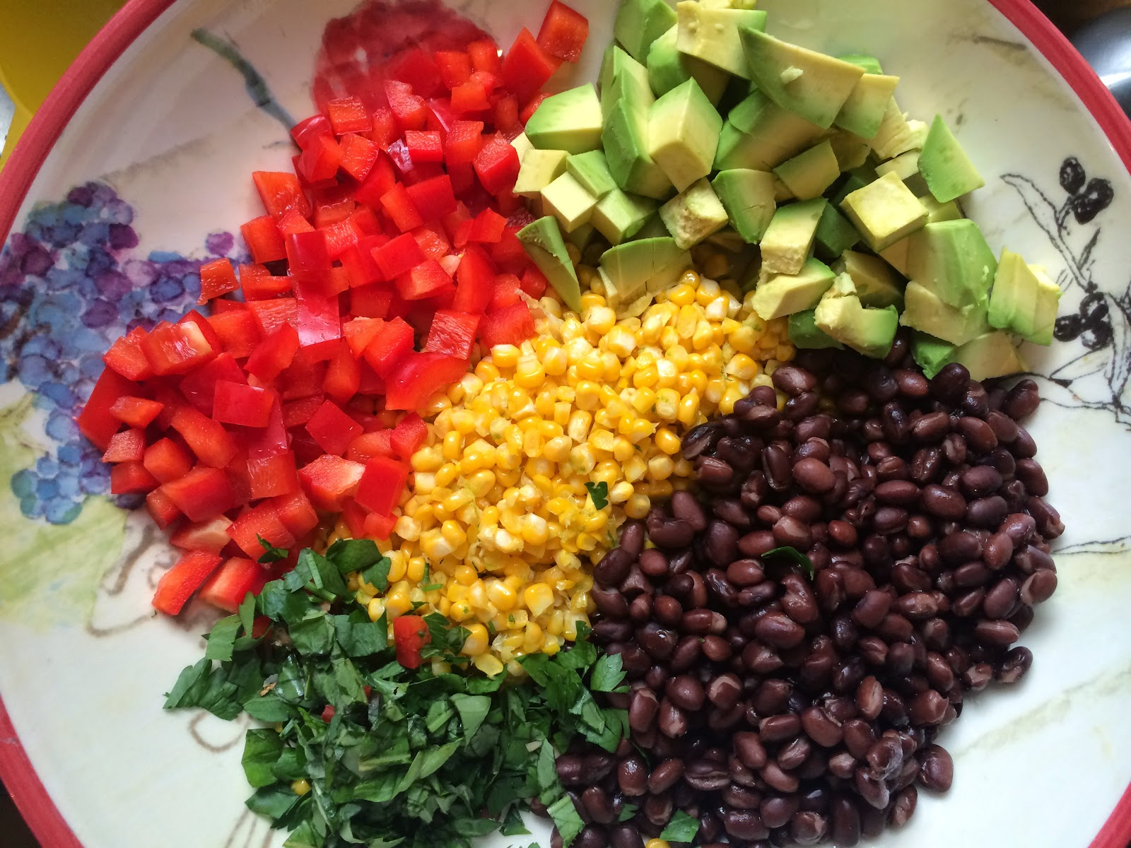 Black Bean, Corn, and Avocado Salad