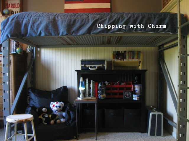 Lil Man Cave Ideas : Chipping with charm little man cave pallet racks to