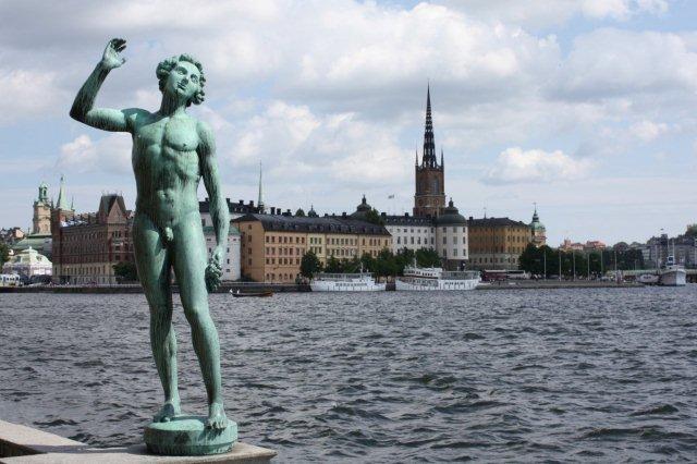 Gamla Stan desde el Ayuntamiento Stadhuset en Estocolmo