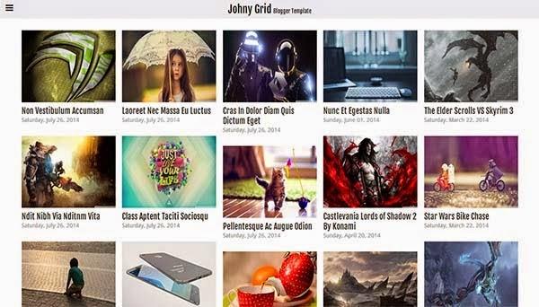 Chia sẻ Theme Blogspot ảnh Johny Grid Responsive