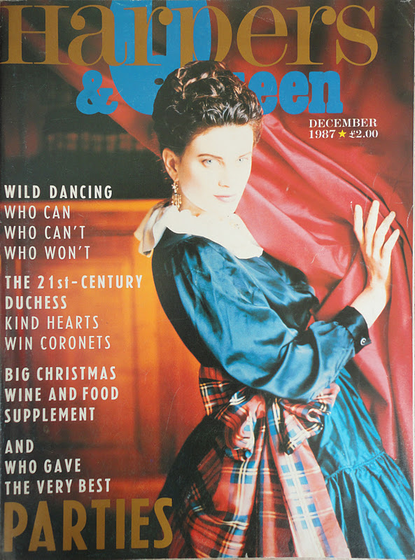 xxx. December 1987. Photograph Javier Valhonrat. Model Kristen Mcmenamy