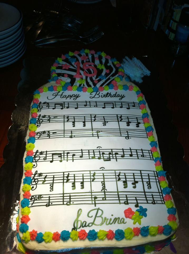 The Cakes Truffle Happy Birthday Music Cake
