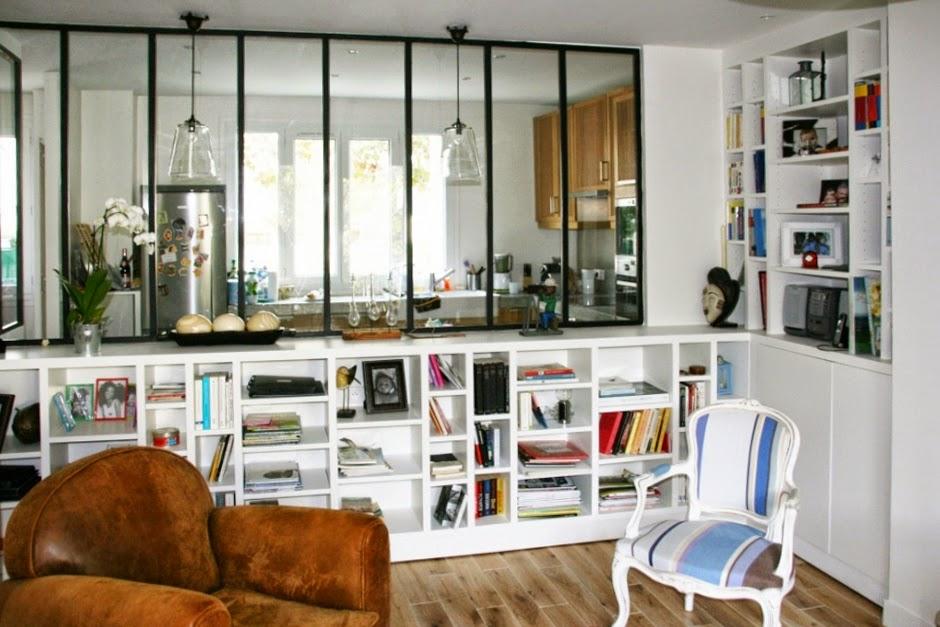 Les fenetres atelier du marais - Separation vitree entre cuisine et salon ...