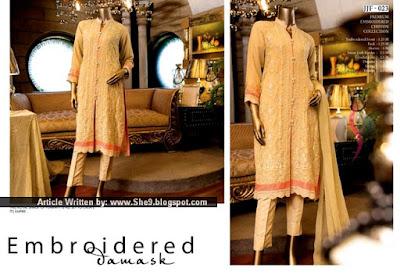 Junaid Jamshed Premium Chiffon Dresses for Eid 2015