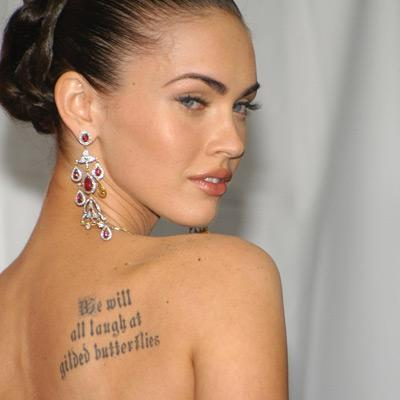Megan Fox Tattoos 2011