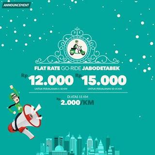 Tarif Baru Gojek mulai 29 desember 215, tarif baru gojek desember 2015