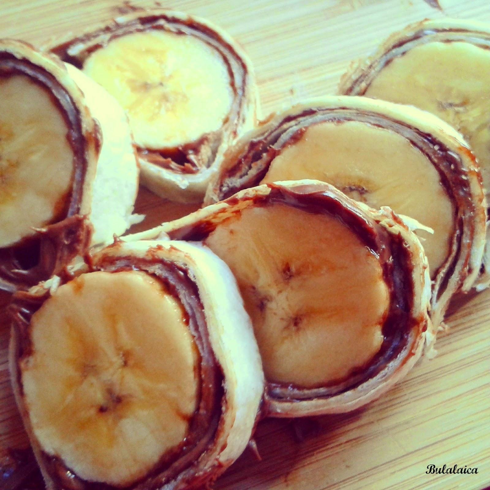 Sushi de plátano y Nutella