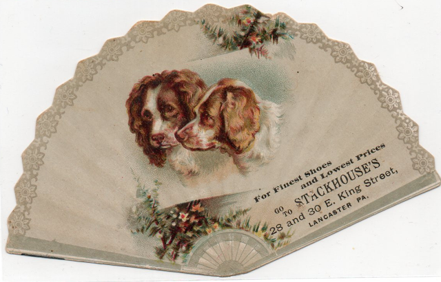 Die cut dog; victorian die cut; scrapbook; antique die cut