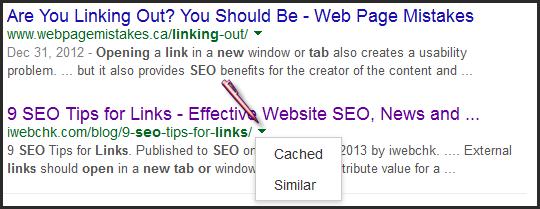 cara membuka cached di pencarian google