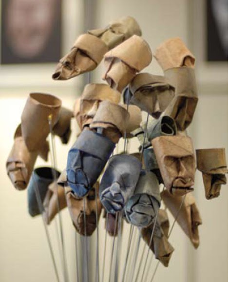 Junior jacquet sculptures from toilet paper roll it s