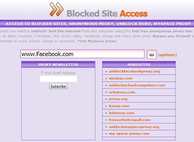 dang nhap facebook thong qua website proxy