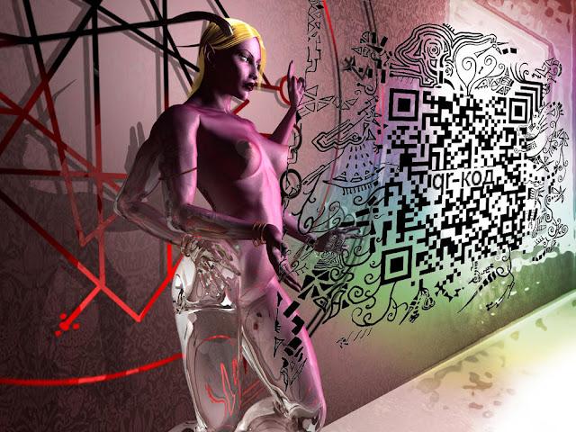 Девочка из Калькутты проецирует код лабиринта
