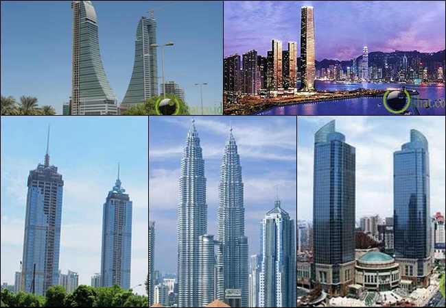 5 Menara Kembar Tertinggi Menjulang ke Langit