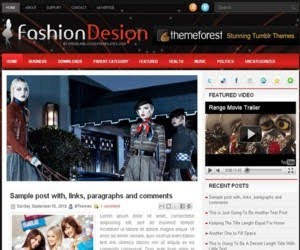Fashion Design Blogger Template