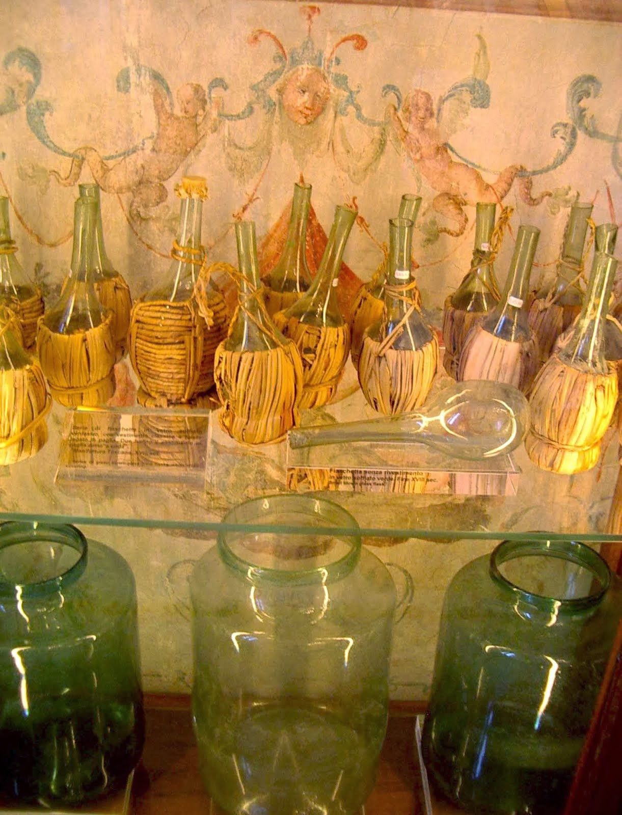 old Italian wine bottles