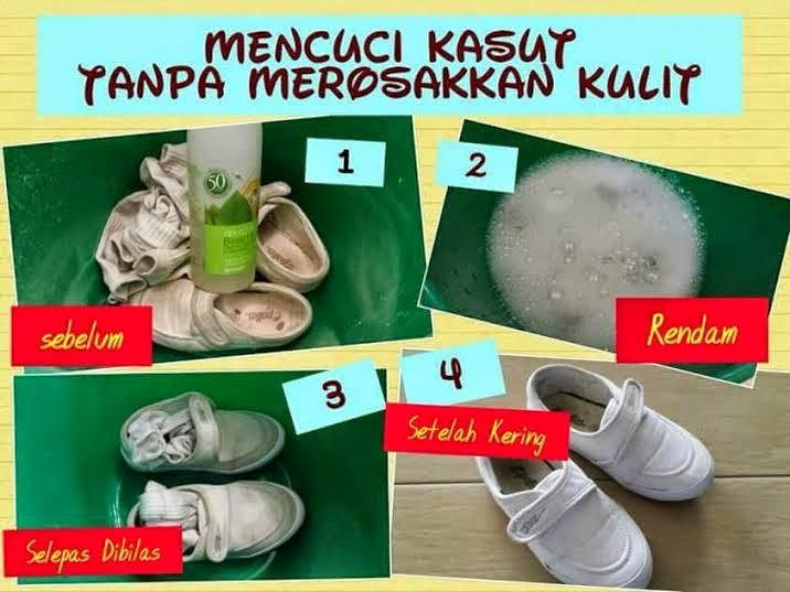 basuh kasut sekolah