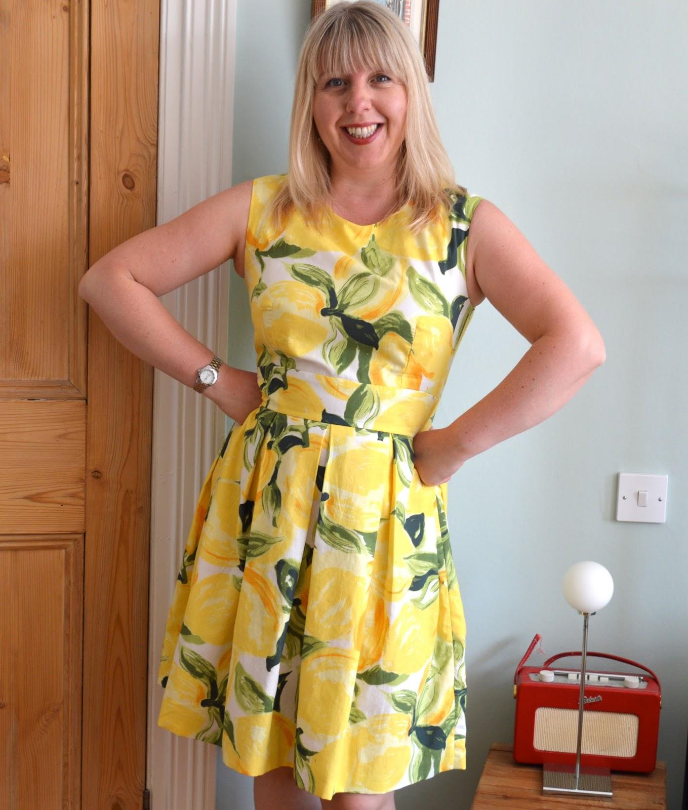 Handmade jane lemon dress with a nod to kate spade jeuxipadfo Gallery